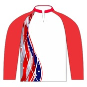 Members Only Stars & Stripes Pro Fishing Jersey